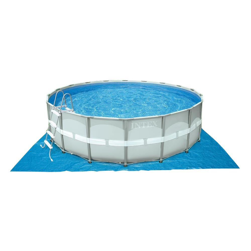 Pool Rund Komplett Intex 16 Ft X 48 In Deep Metal Frame Round Above Ground Pool Set With Sand Filter Pump
