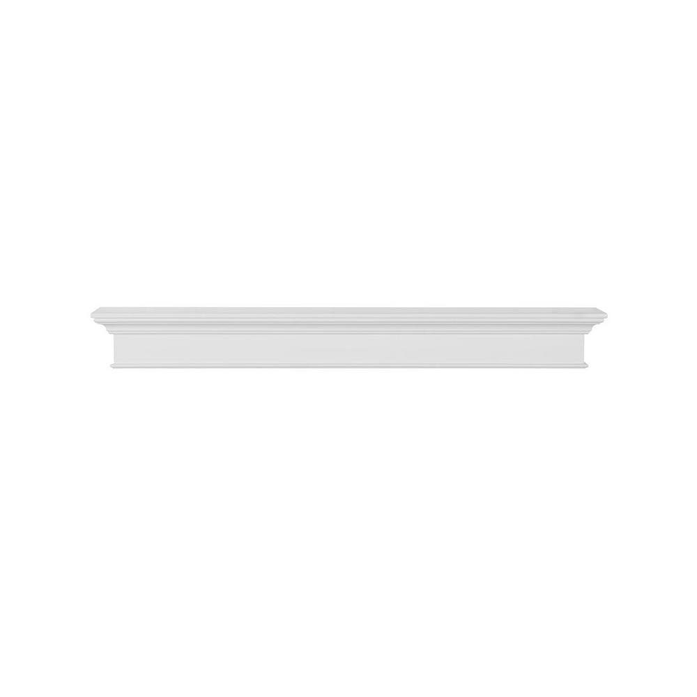 Pearl Mantels The Henry 6 Ft White Paint Mdf Distressed