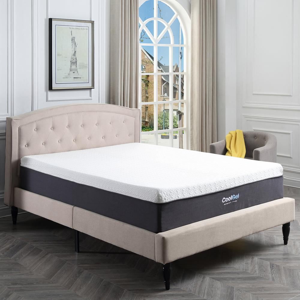 Bedroom Mattress Cool Gel Cool Gel Full Size 12 In Gel Memory Foam Mattress 410079