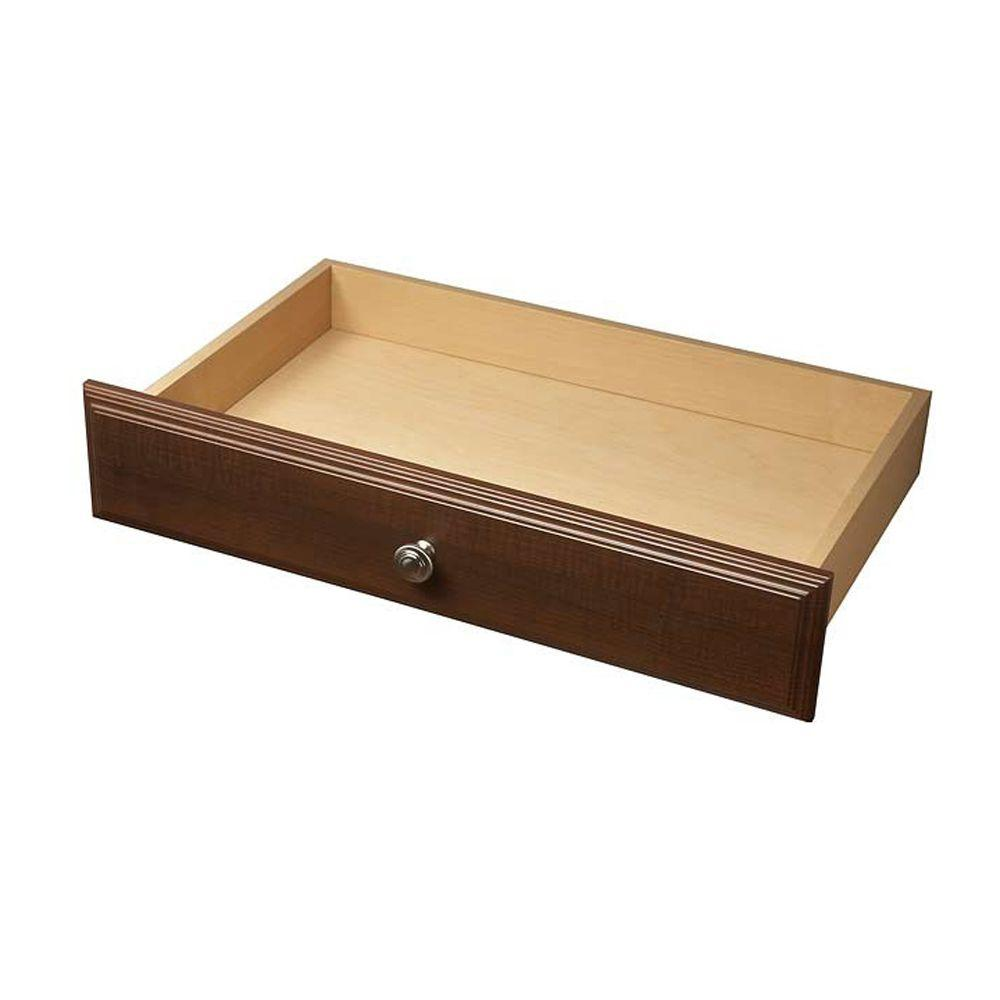 Living24 Möbel Martha Stewart Living 24 In X 4 In Espresso Deluxe Wood Drawer Kit