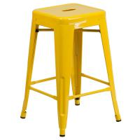 Flash Furniture 24.25 in. Yellow Bar Stool-CH3132024GBYL ...