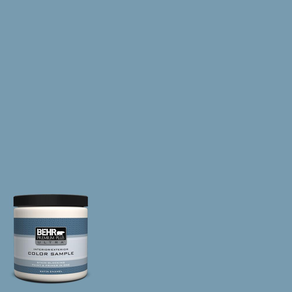 Cool Blue Paint Behr Premium Plus Ultra 8 Oz 550f 4 Cool Dusk Satin Enamel Interior Exterior Paint And Primer In One Sample