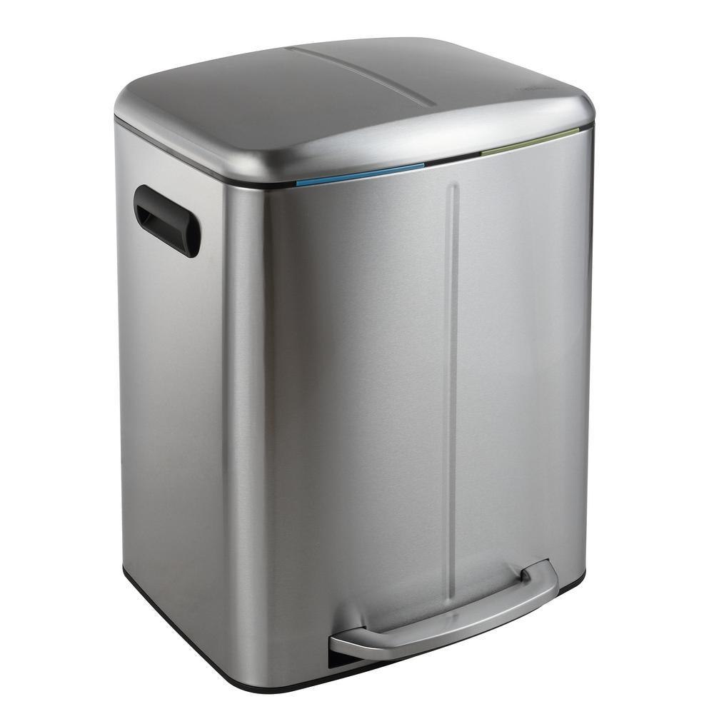 Rectangular Bin Happimess Marco Rectangular 10 5 Gal Double Bucket Trash Can With Soft Close Lid