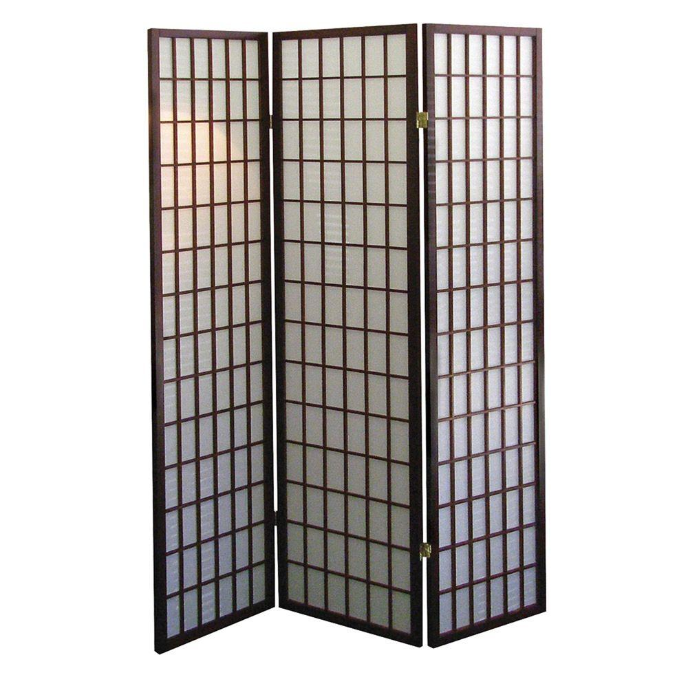 Room Dividers Home Depot 5 83 Ft Cherry 3 Panel Room Divider