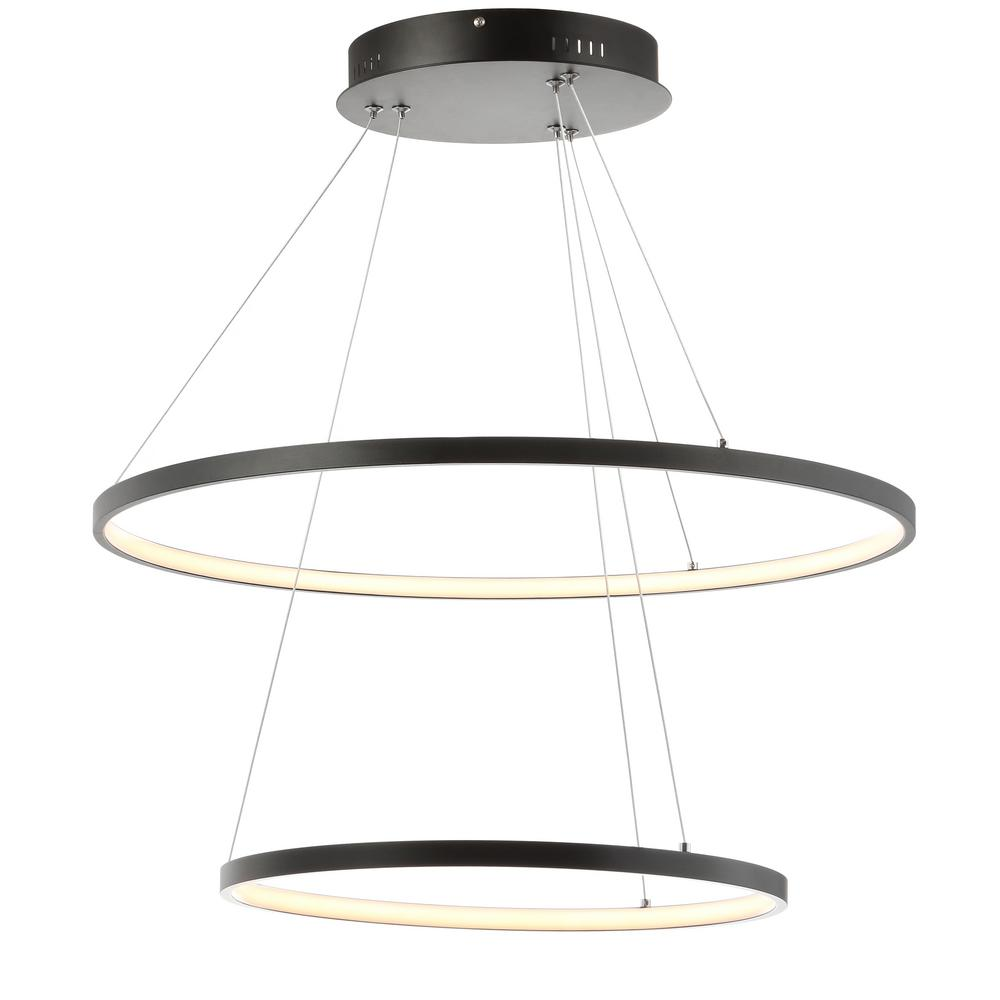 Led Chandelier Brice 56 Watt Matte Black Integrated Led Chandelier