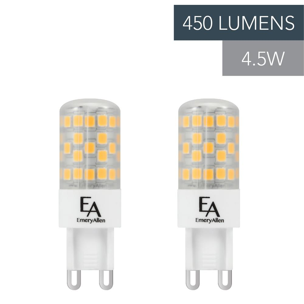 Led G9 5w Emeryallen 50 Watt Equivalent G9 Base Dimmable 3000k Led Light Bulb Soft White 2 Pack