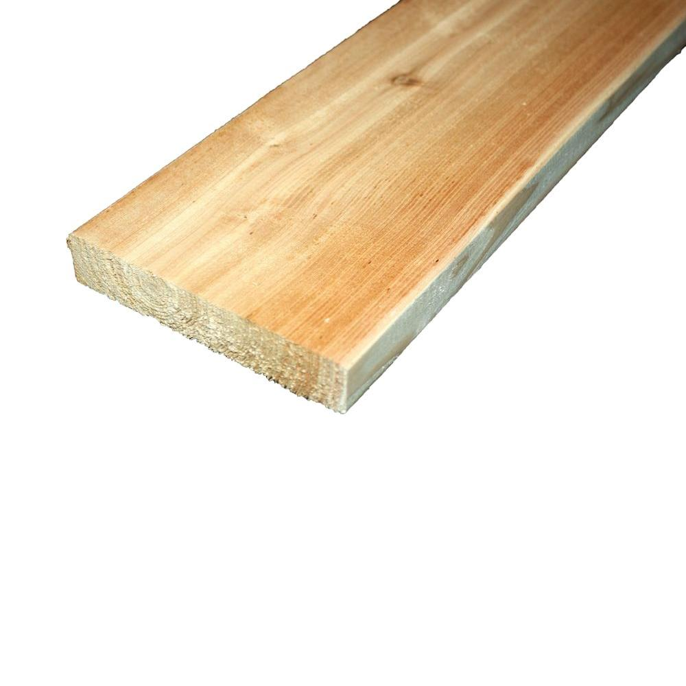 Home Depot Cedar Deck Boards 5 4 In X 6 In X 10 Ft Premium Radius Edge Cedar Lumber