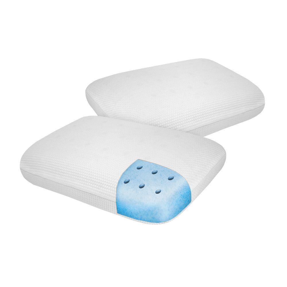 Standard Bed Pillows Classic Comfort Memory Foam Standard Bed Pillows 2 Pack