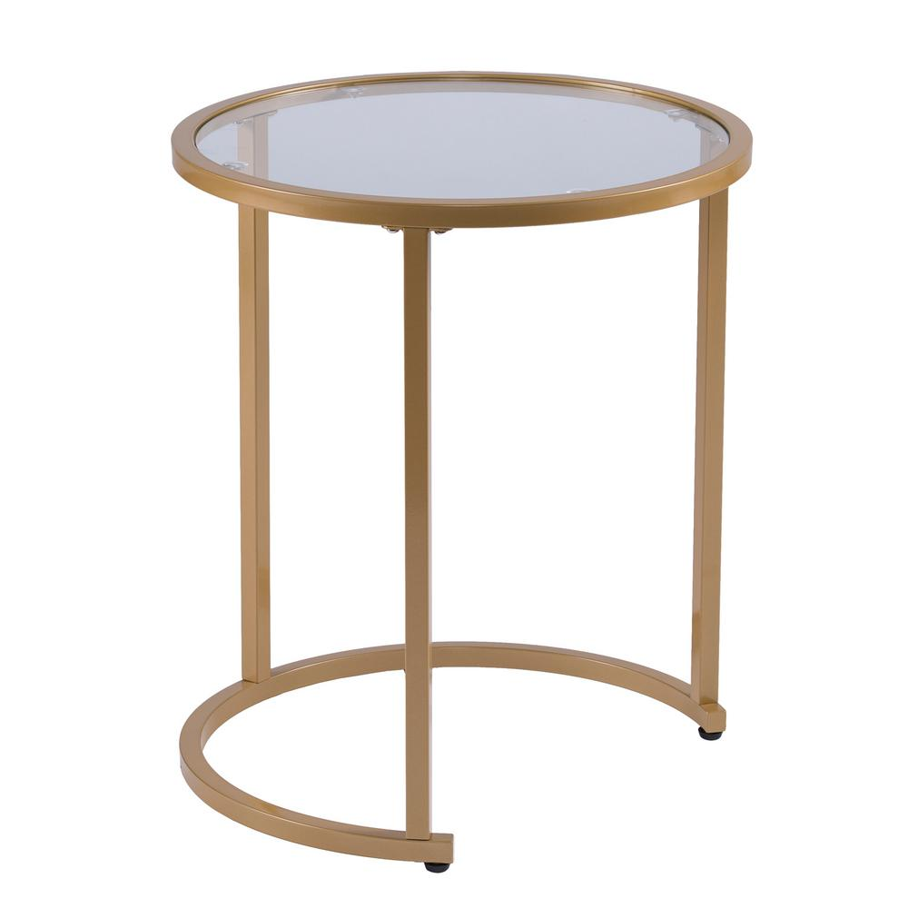 Gold Nesting Coffee Table Southern Enterprises Narita Gold Glam Nesting Side Table Set Of 2
