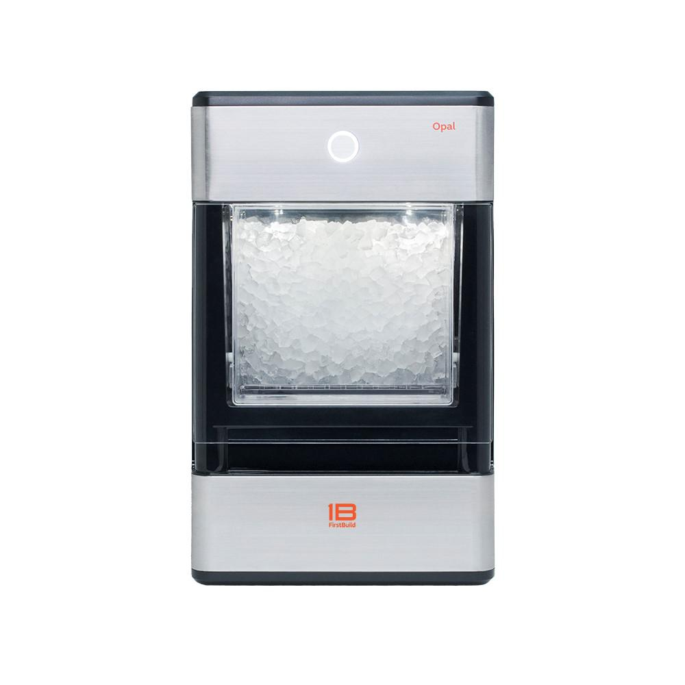 Countertop Ice Maker Walmart Firstbuild Opal 24 Lb Freestanding Nugget Ice Maker In Stainless Steel