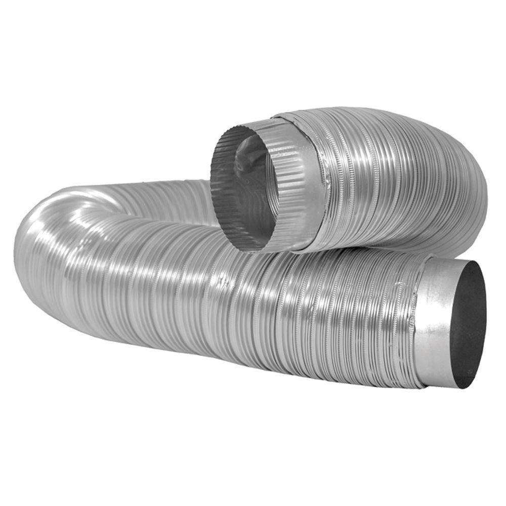 Dryer Vent Insulation Everbilt 4 In X 6 Ft Semi Rigid Aluminum Duct With Collars