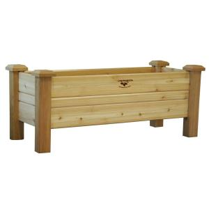 Enthralling Western Red Cedar Unfinished Gronomics Planters Pb 18 48 64 1000 Home Depot Vegetable Garden Box