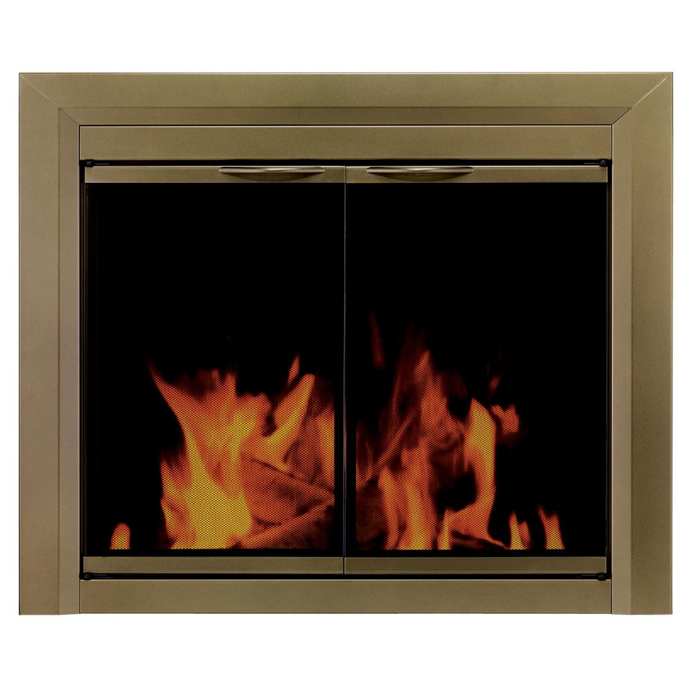 Modern Glass Fireplace Screens Pleasant Hearth Cahill Small Glass Fireplace Doors Ca 3200 The
