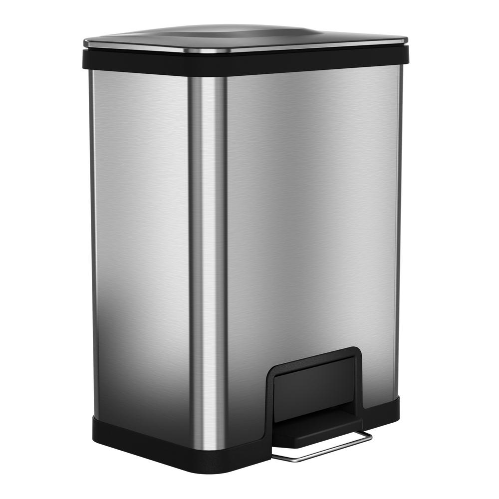 Small Kitchen Trash Cans Halo 13 Gal Airstep Stainless Steel Trash Can With 16 In Opening