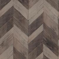 Wood Weathered Herringbone Dark Brown Wallpaper-R4662 ...