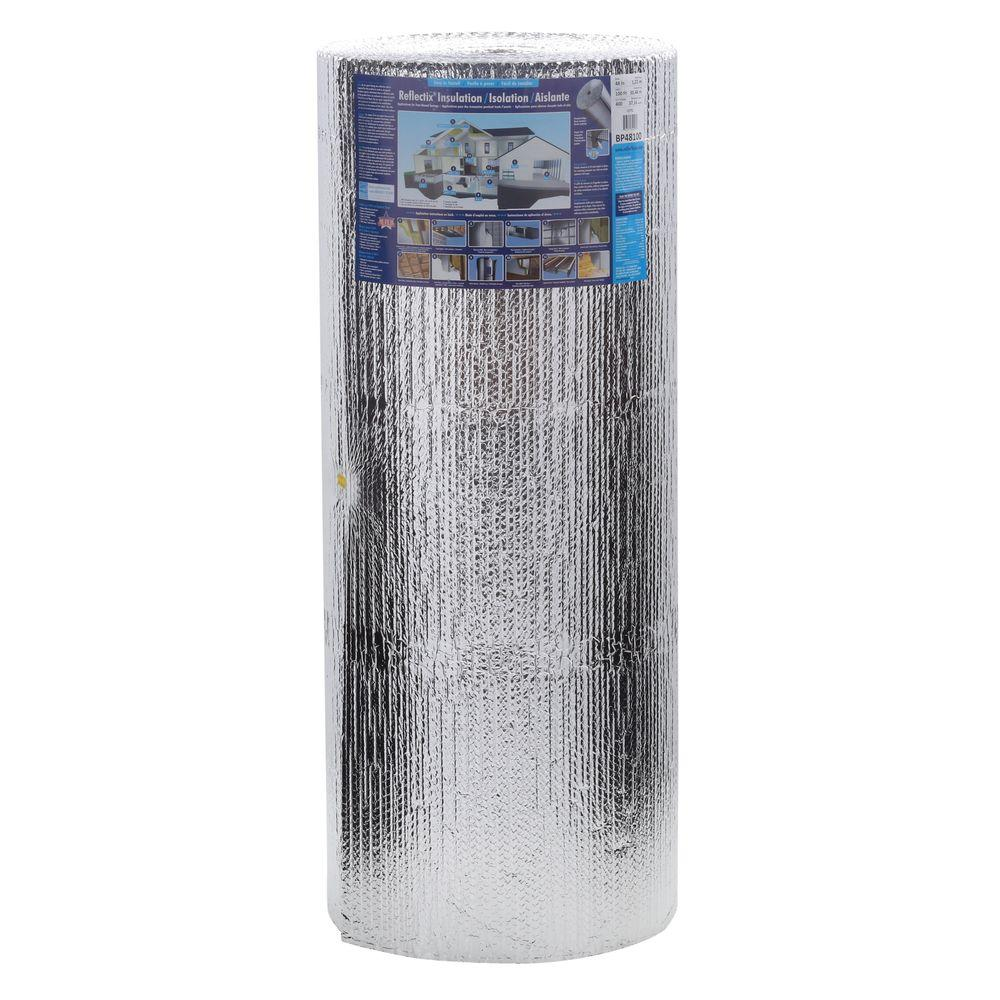 Foil Insulation Blanket Reflectix 48 In X 100 Ft Double Reflective Insulation Roll