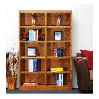 Concepts In Wood Midas Double Wide 10-Shelf Bookcase in ...