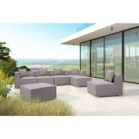 ZUO Fiji Gray Aluminum Corner Outdoor Sectional Chair With ...