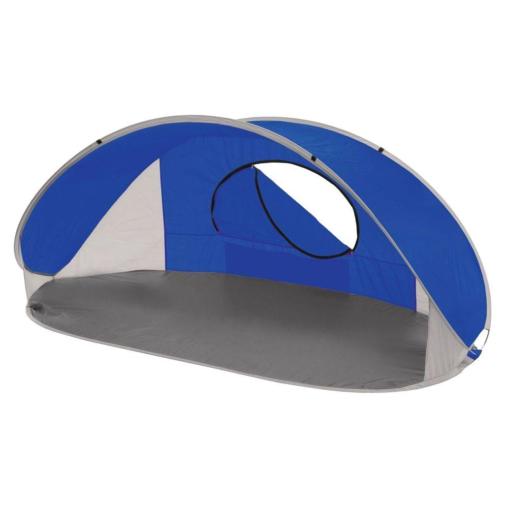 Pop Up Sun Shelter Canada Picnic Time Manta Sun Shelter In Blue Grey And Silver