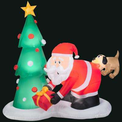 Stake\/stand included - Classic Christmas - Christmas Inflatables - home depot outdoor christmas decorations