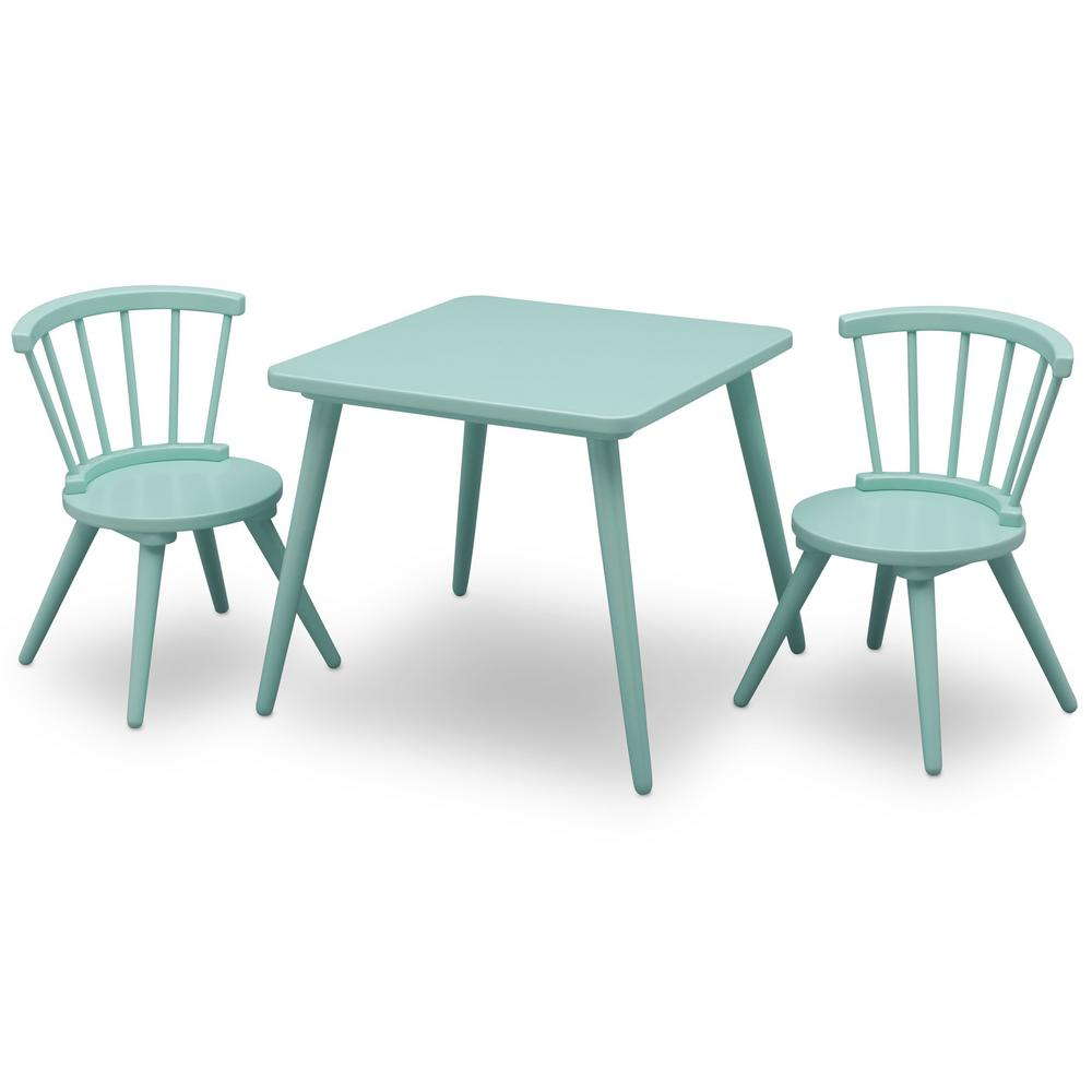 Childrens Table And Chair Set Delta Children Aqua Windsor Table And 2 Chair Set