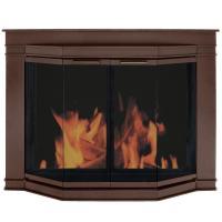 Pleasant Hearth Grantham Small Glass Fireplace Doors-GL ...
