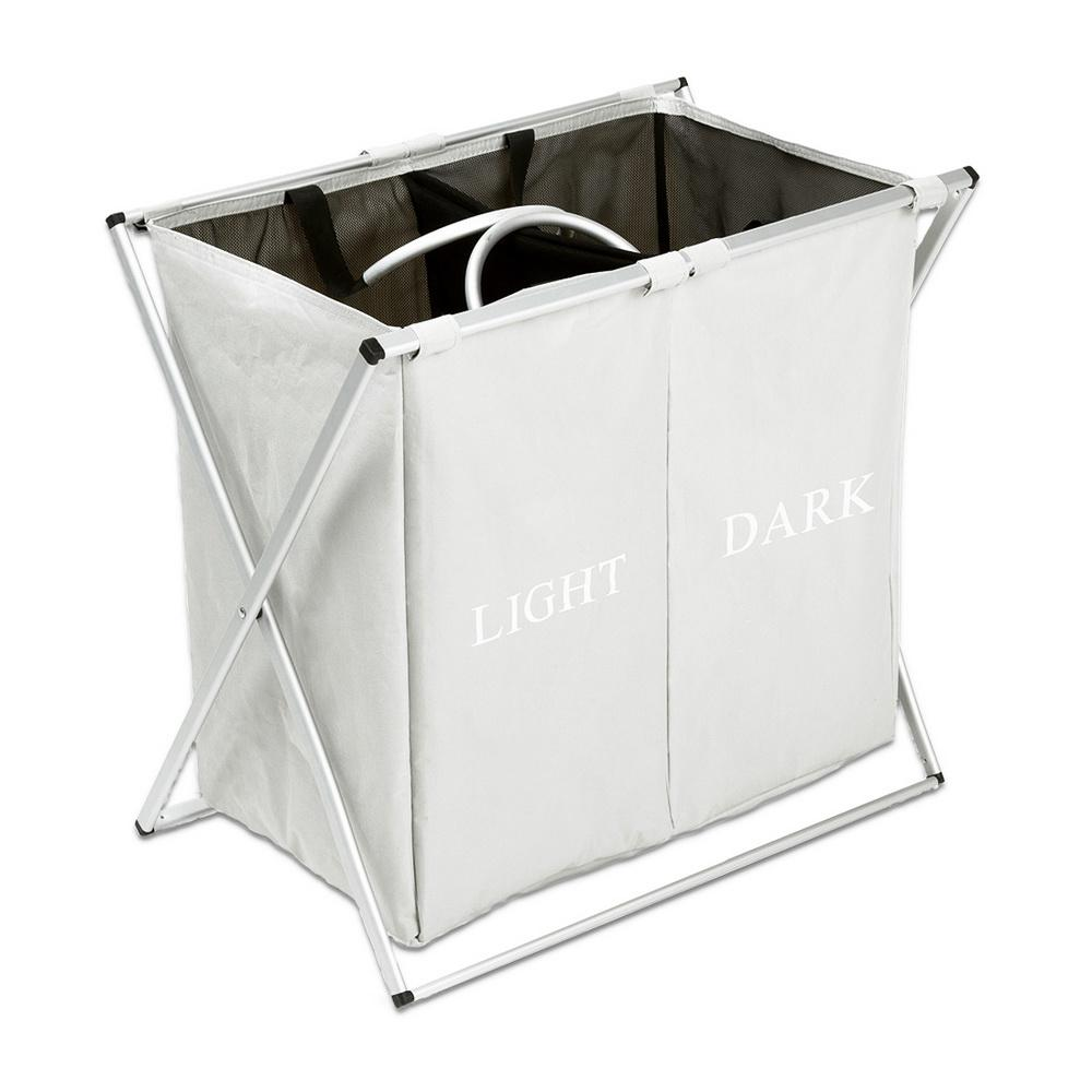 Dirty Laundry Baskets Light Gray Fabric Oxford Cloth Dirty Clothes Storage Laundry Basket
