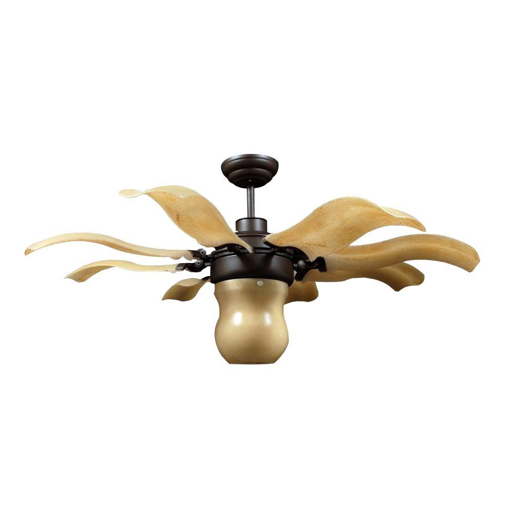 Unusual Ceiling Fans For Sale Vento Fiore 42 In Indoor Roman Bronze Retractable Ceiling Fan With Remote Control