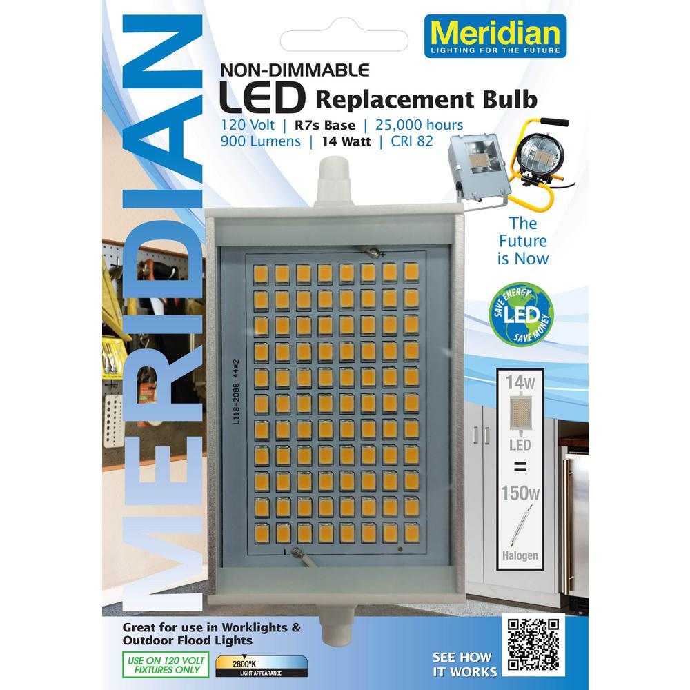 R7s Led Dimmable Meridian 150w Equivalent Soft White 2800k R7s Led Light Bulb