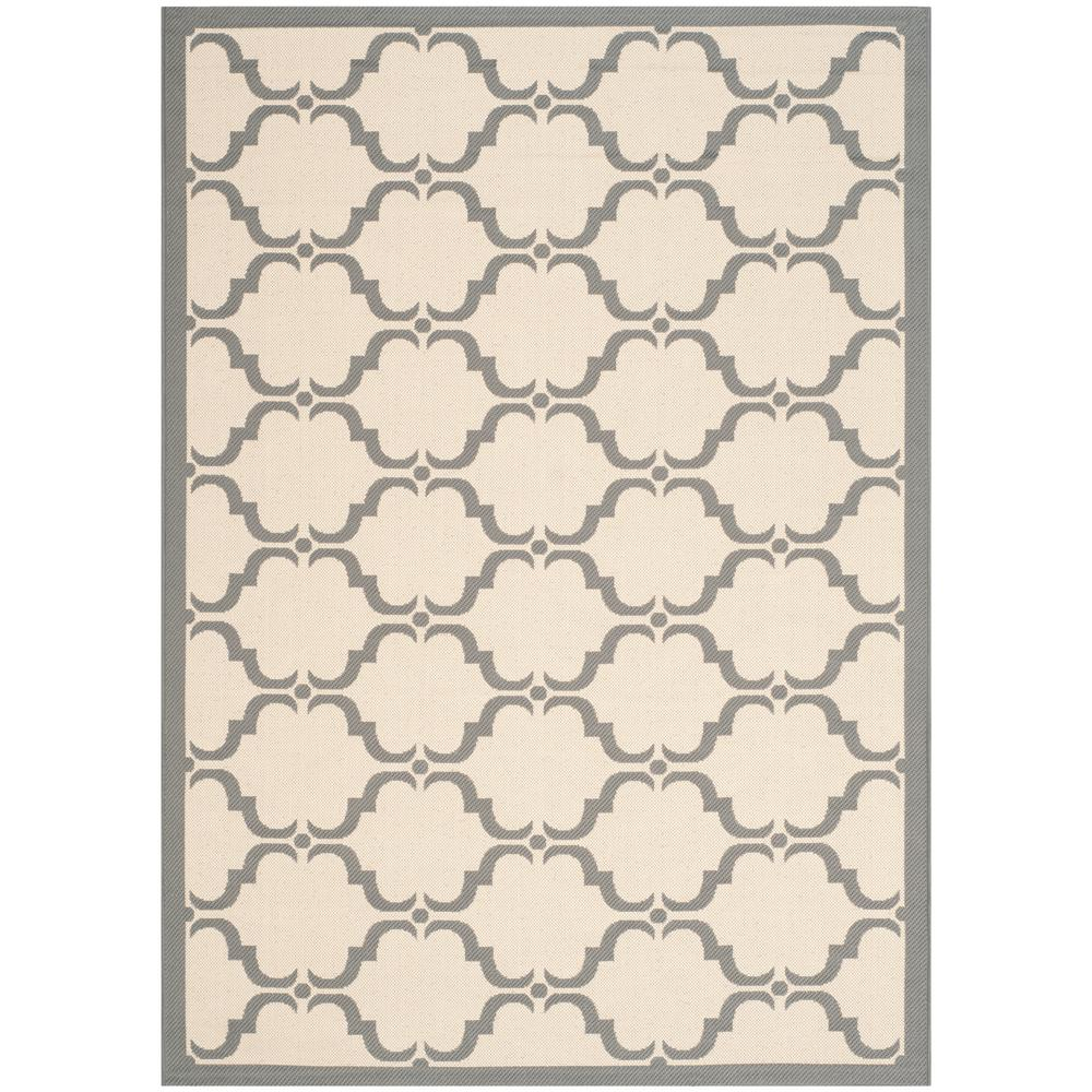 Safavieh Courtyard Safavieh Courtyard Beige Anthracite 4 Ft X 6 Ft Indoor Outdoor Area Rug