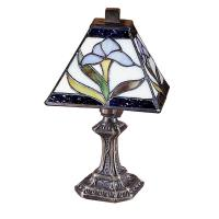 Dale Tiffany 11 in. Antique Brass Mini-Accent Lamp with ...