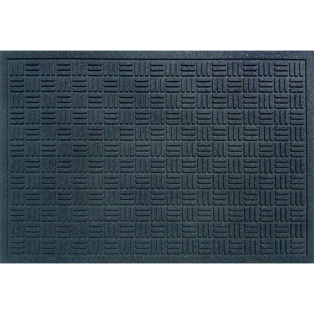 Commercial Rugs Trafficmaster Black 24 In X 36 In Recycled Rubber Commercial Door Mat