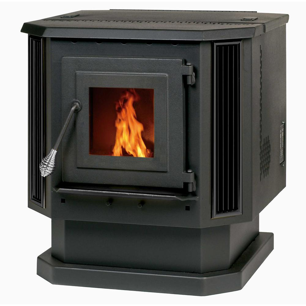 Fireplace Propane Heater 2 200 Sq Ft Pellet Stove With Black Louvers