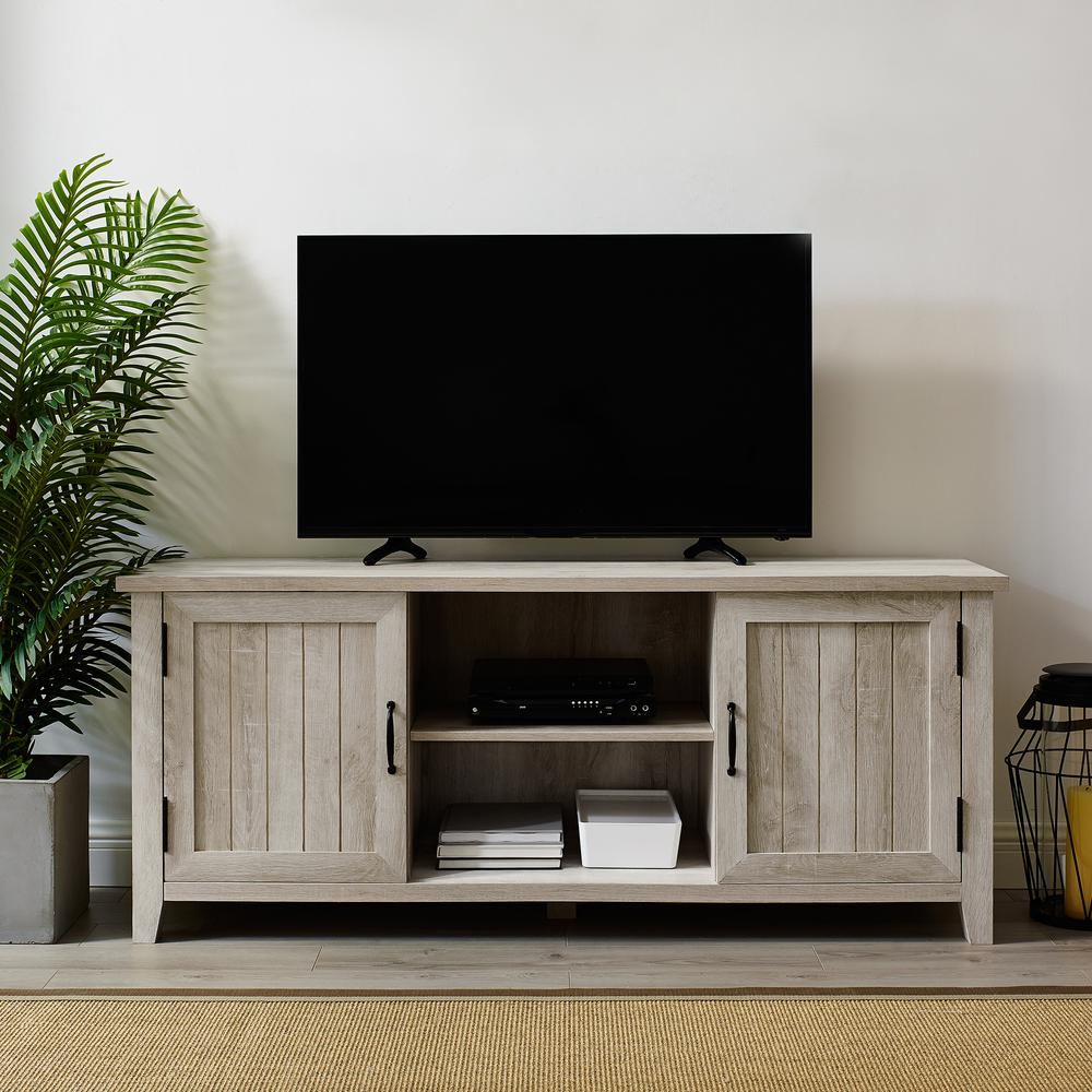 Modern Tv Walker Edison Furniture Company 58 In White Oak Modern Farmhouse Tv Stand