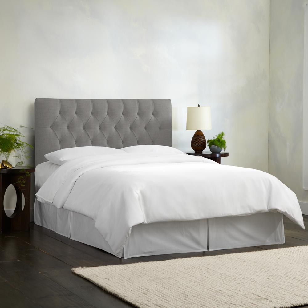Bed Headboard Linen Petal Full Diamond Tufted Headboard 541flnnptl The Home Depot