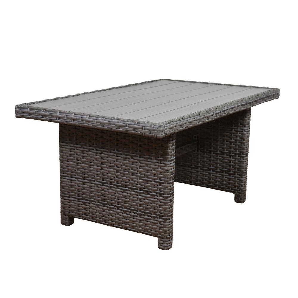 Outdoor Furniture Dining Set Sale Atlantic Contemporary Lifestyle Cebu Rectangular Synthetic Wicker Patio Dining Table