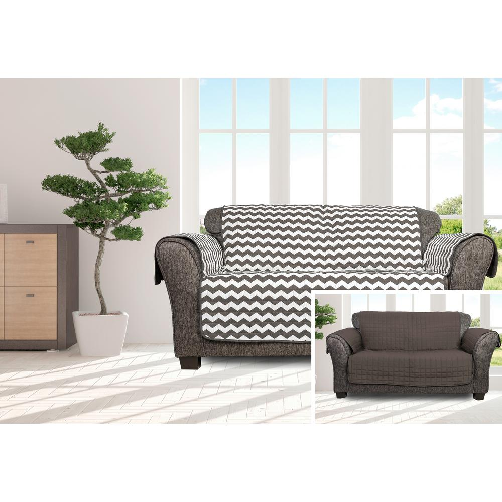 Fitted Slipcovers Couches Fifi Water Resistant Grey Fit Polyester Fit Loveseat Slip Cover