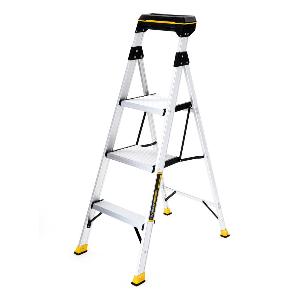 Gorilla Ladders 45 Ft Aluminum Hybrid Ladder With Tray