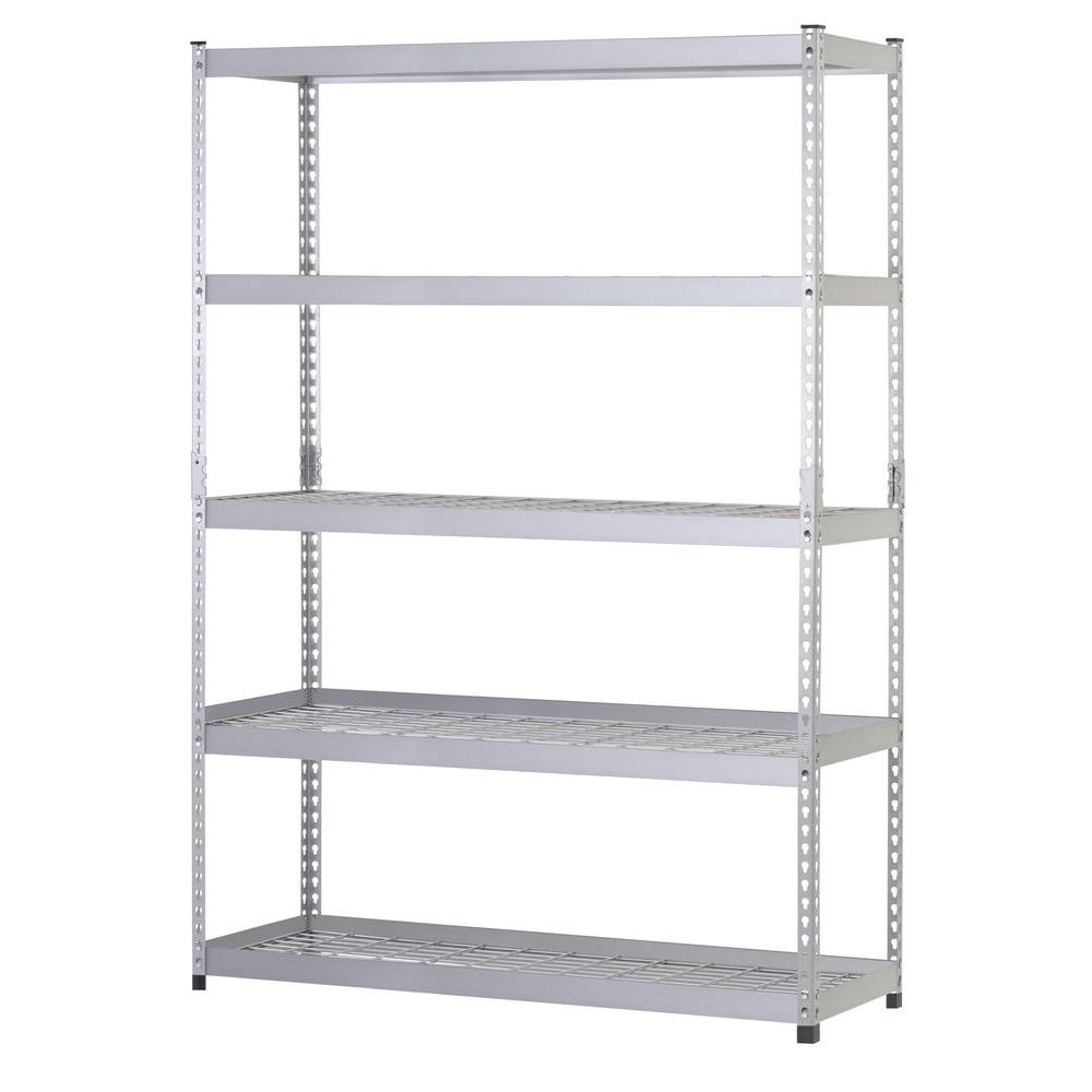 Metal Shelving Husky 78 In H X 48 In W X 24 In D 5 Shelf Steel Unit