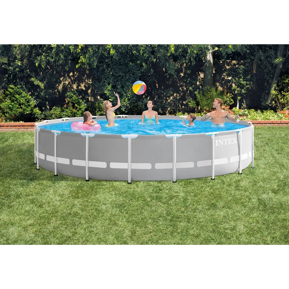Intex Vs Bestway Review Intex 18 Ft X 48 In Prism Frame Above Ground Swimming Pool Set With Pump