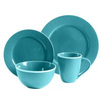 Gibson Home Lilith 16-Piece Turquoise Dinnerware Set ...