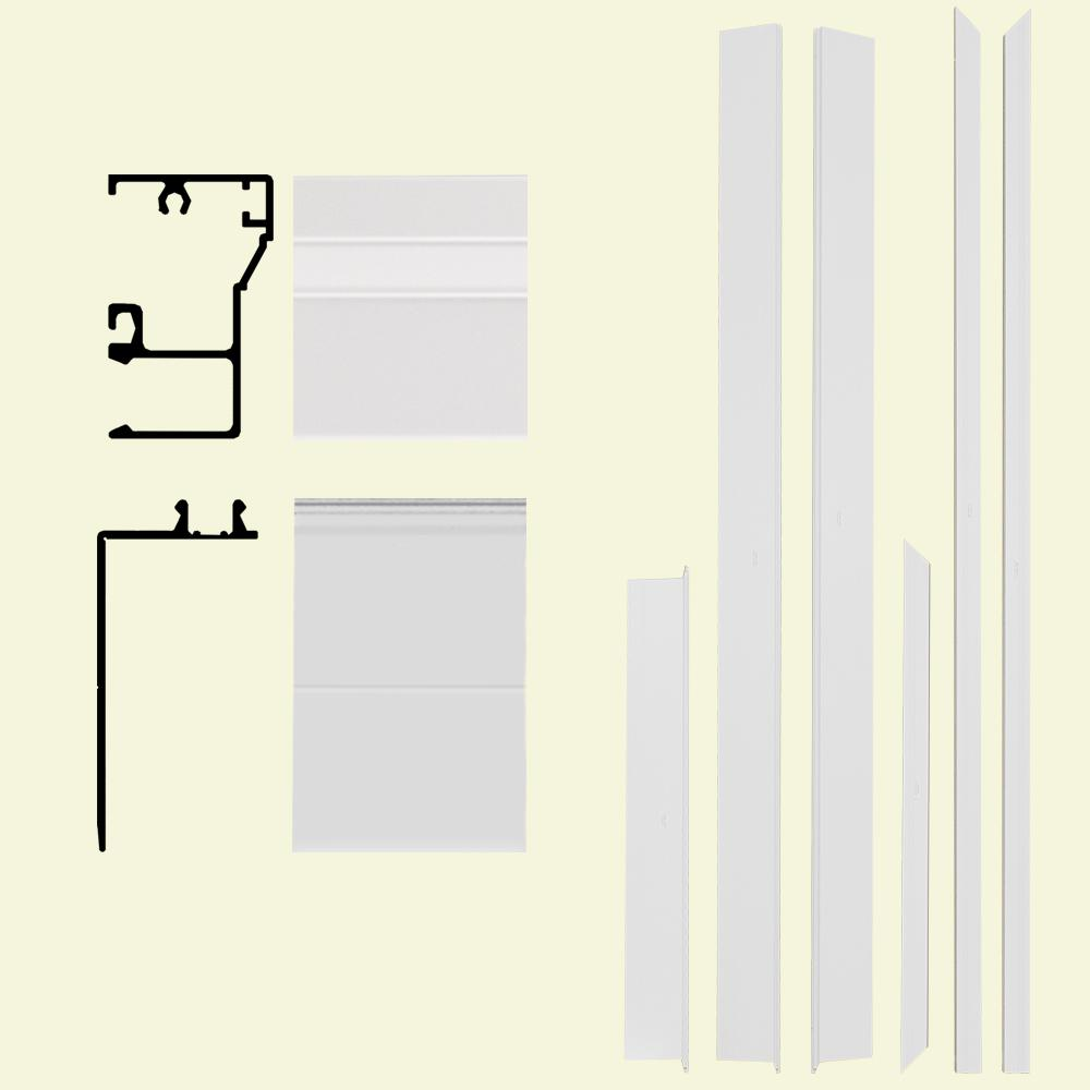 Home Depot Door Casing Frontline Remodel 4 9 16 In X 1 1 4 In X 84 In Aluminum Entry Door Frame Clad Kit With Brickmould