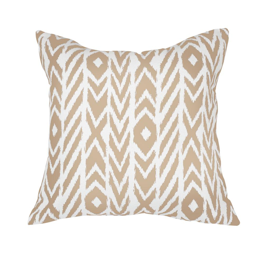 Lounge Throw Astella Fire Island Hemp Square Outdoor Accent Lounge Throw Pillow