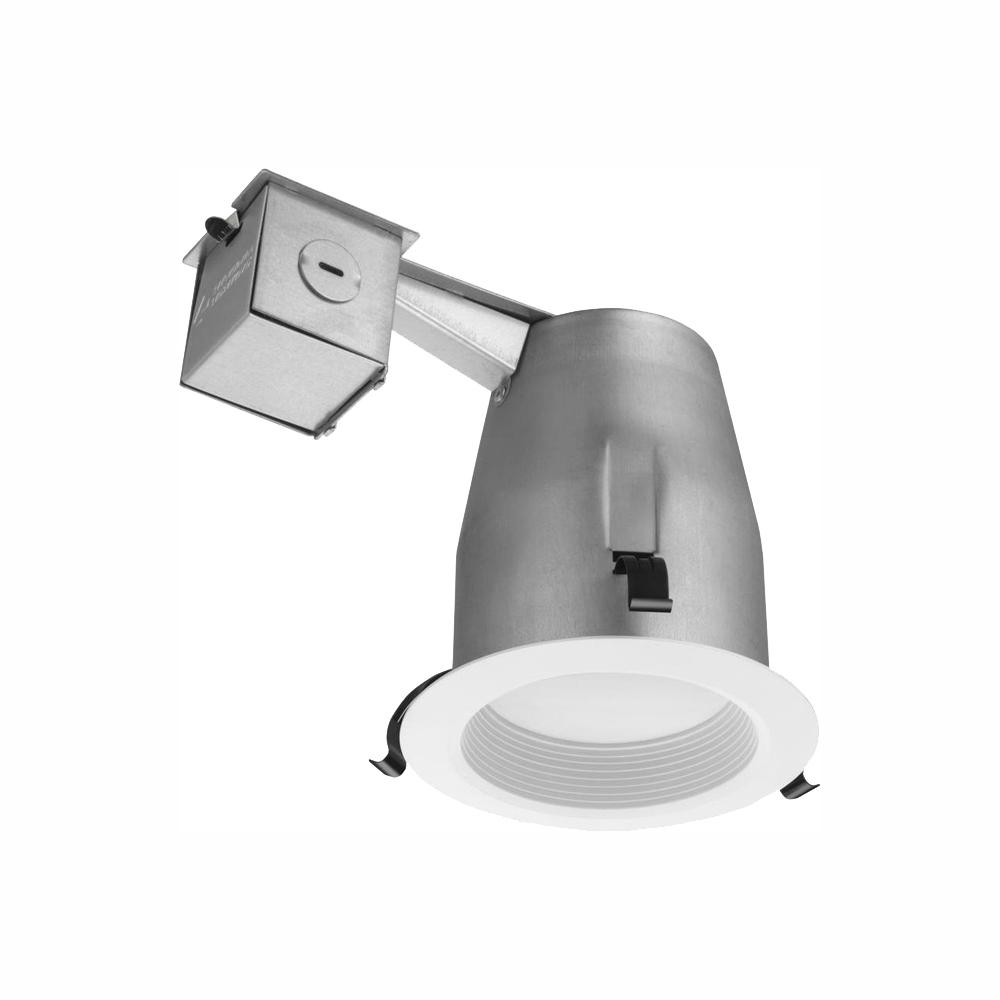 Led White Lithonia Lighting 3 In Matte White Recessed Baffle Integrated Led Lighting Kit