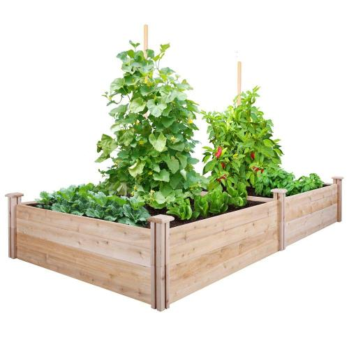Top Cedar Raised Garden Greenes Fence X X Cedar Raised Garden Bed Home Depot Vegetable Garden Box