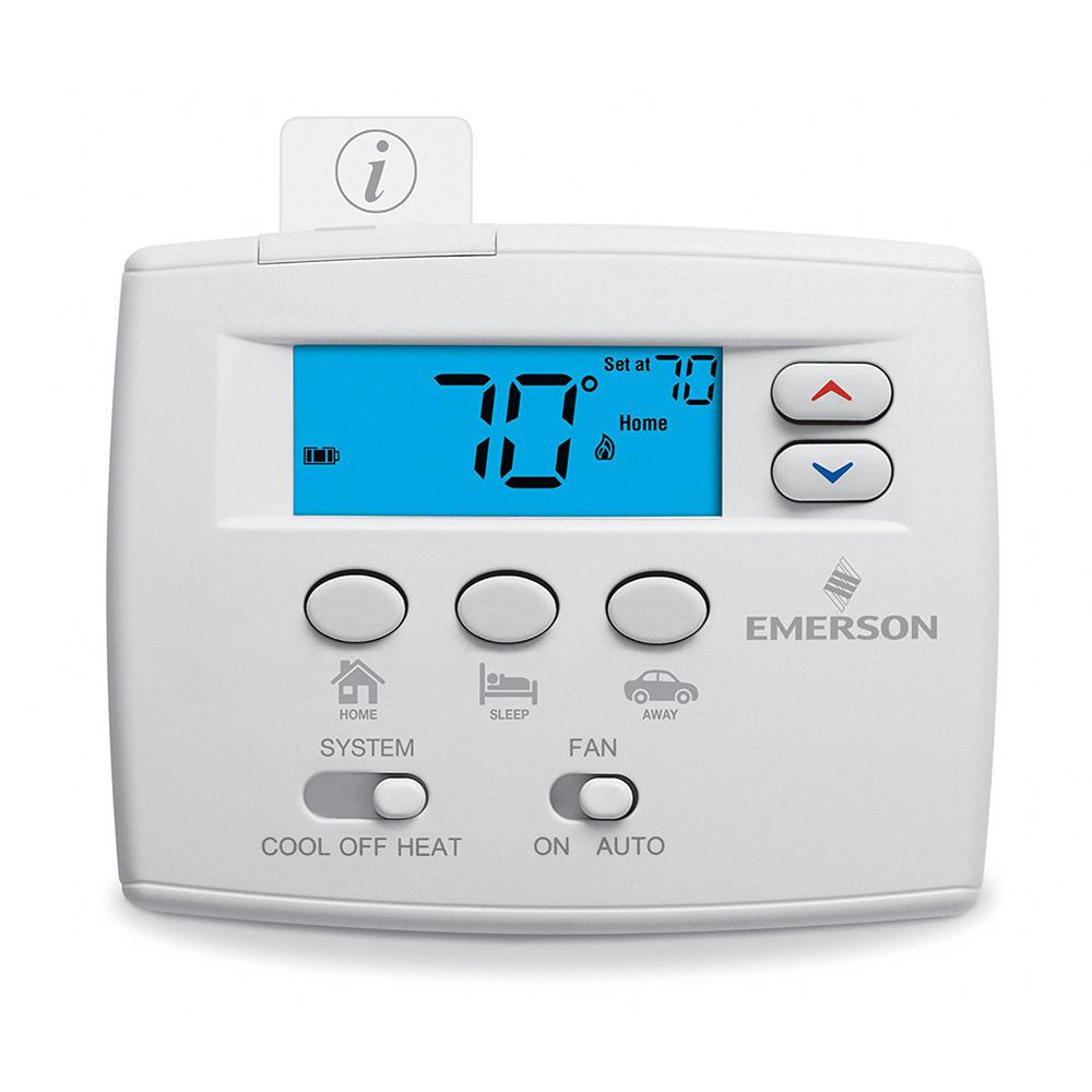 Heating Thermostat Blue Easy Set Non Programmable Thermostat