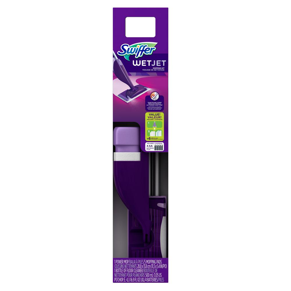 Plancher Home Depot Swiffer Wetjet Power Mop Starter Kit