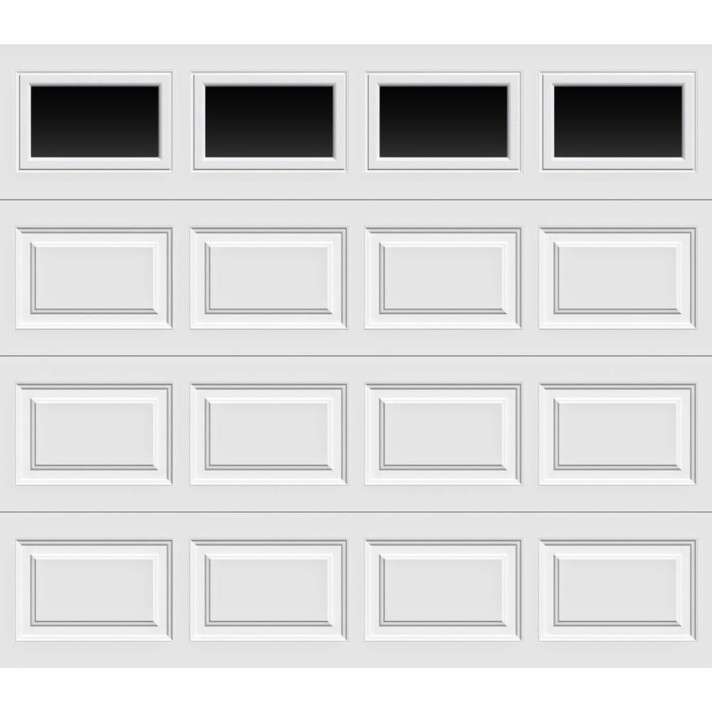 Garage Door Insulation Highest R Value Clopay Classic Collection 9 Ft X 7 Ft 6 5 R Value Insulated White Garage Door With Plain Windows