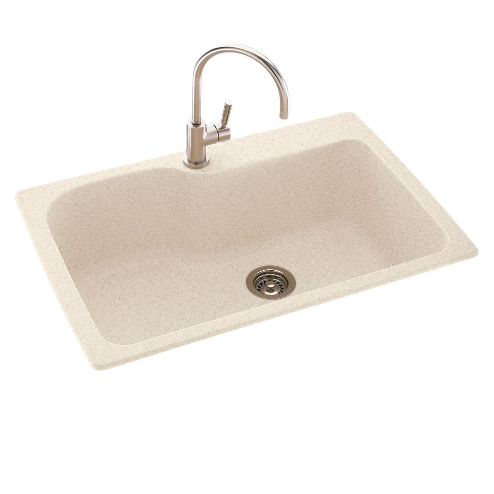 Swan Drop In Undermount Solid Surface 33 In 1 Hole Single
