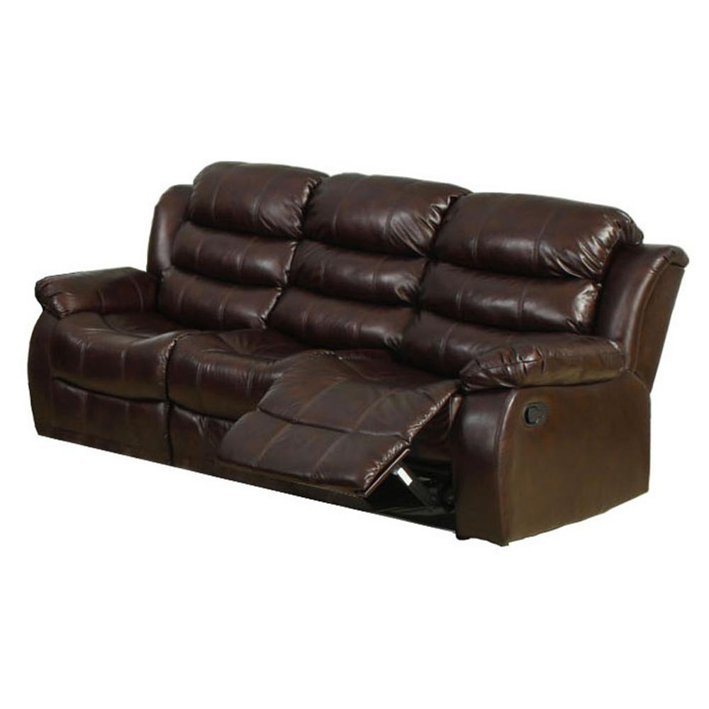 Kunstleder Couch Furniture Of America Berkshire Dark Brown Faux Leather